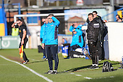 Forest Green Rovers assistant manager, Scott Lindsey looks on during the FA Trophy match between Macclesfield Town and Forest Green Rovers at Moss Rose, Macclesfield, United Kingdom on 4 February 2017. Photo by Shane Healey.
