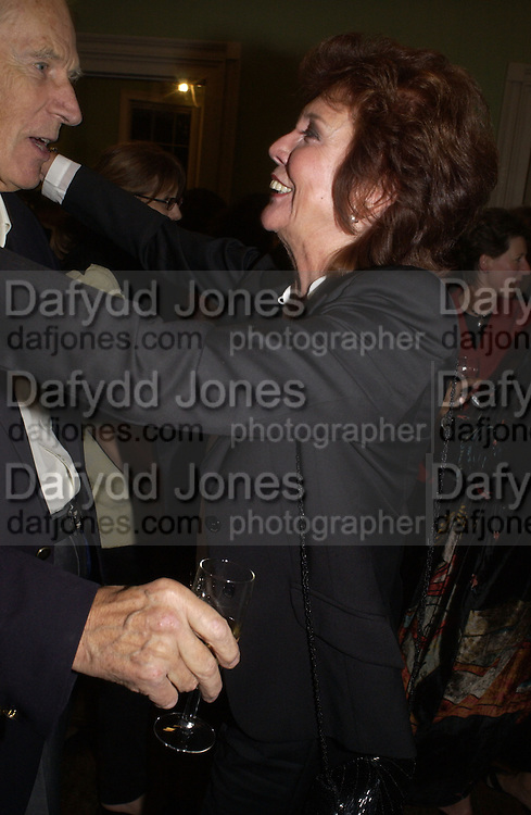 George Martin and Cilla Black, Launch of 'John' by Cynthia Lennon at Six, Fitzroy Sq. London. 27 September 2005. ONE TIME USE ONLY - DO NOT ARCHIVE © Copyright Photograph by Dafydd Jones 66 Stockwell Park Rd. London SW9 0DA Tel 020 7733 0108 www.dafjones.com