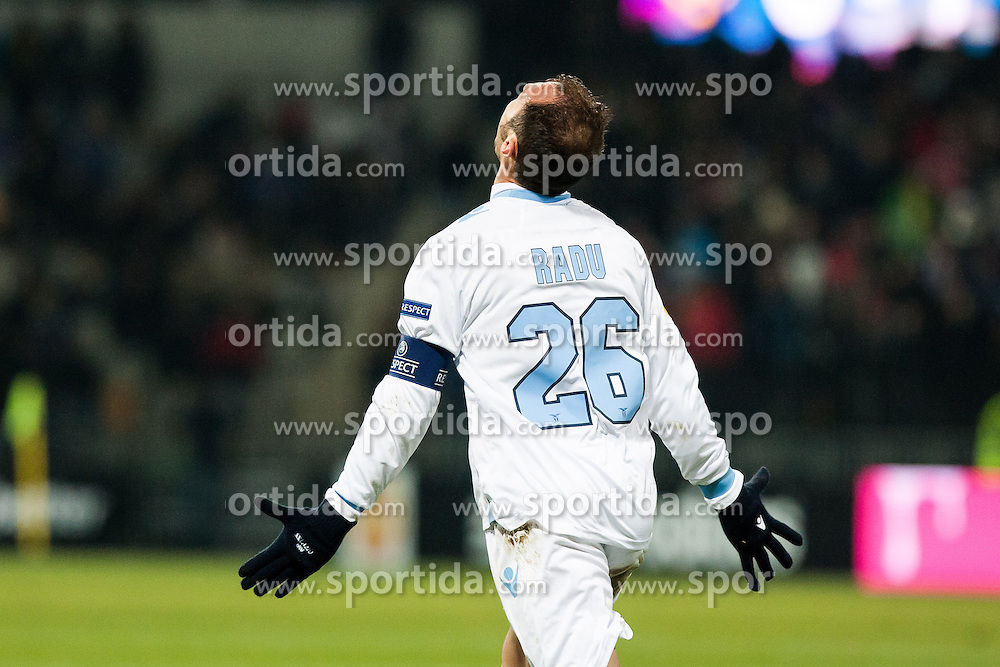 Stefan Radu #26 of S.S. Lazio celebrate scoring a goal during football match between NK Maribor and S. S. Lazio Roma  (ITA) in 6th Round of Group Stage of UEFA Europa league 2013, on December 6, 2012 in Stadium Ljudski vrt, Maribor, Slovenia. (Photo By Gregor Krajncic / Sportida)