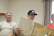 B Troop, 1/9th Cavalry pilot Jim Pratt looks at the map which was returned to fellow B Troop pilot John Flanagan after over 40 years. Gathering of Warriors reunion attended by Vietnam War Veterans of the 1st Squadron, 9th Cavalry, 1st Cavalry Divison.