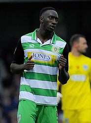 Bevis Mugabi of Yeovil Town - Mandatory by-line: Nizaam Jones/JMP - 29/10/2016/ - FOOTBALL - Hush Park - Yeovil, England - Yeovil Town v Grimsby Town - Sky Bet League Two