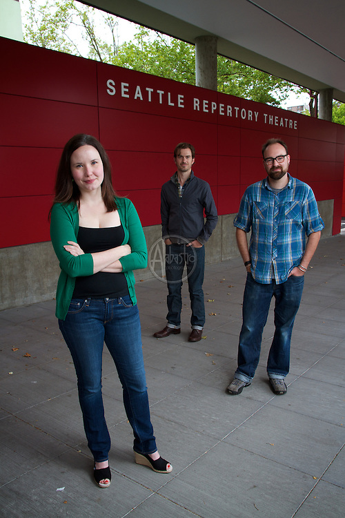 Seattle Reperatory Theatre Artistic Staff, June 2012: Braden, Erin, L.B.