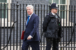 © Licensed to London News Pictures. 07/03/2017. London, UK. Defence Secretary Michael Fallon on Downing Street. The government is set to deliver the budget tomorrow, Wednesday 8 March 2017. Photo credit: Rob Pinney/LNP