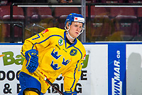 KELOWNA, BC - DECEMBER 18:  Filip Sveningsson #17 of Team Sweden warms up against the Team Russia at Prospera Place on December 18, 2018 in Kelowna, Canada. (Photo by Marissa Baecker/Getty Images)***Local Caption***