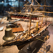 A 1:50 scale model of the gunboat Rio Tamega, a 645-ton combined propulsion ship commissioned in 1875. The Museu de Marinha (Maritime Museum of Navy Museum) focuses on Portuguese maritime history. It features exhibits on Portugal's Age of Discovery, the Portuguese Navy, commercial and recreational shipping, and, in a large annex, barges and seaplanes. Located in the Belem neighborhood of Lisbon, it occupies, in part, one wing of the Jerónimos Monastery. Its entrance is through a chapel that Henry the Navigator had built as the place where departing voyagers took mass before setting sail. The museum has occupied its present space since 1963.