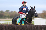 Jockey Bryony Frost on BLACK CORTON prior to The Class 1 bet365 Charlie Hall Steeple Chase over 3m (£100,000)  during the Bet365 Meeting at Wetherby Racecourse, Wetherby, United Kingdom on 3 November 2018. Picture by Mick Atkins.