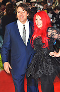 24.JANUARY.2012. LONDON<br /> <br /> JONATHAN ROSS AND JANE GOLDMAN AT THE WOMAN IN BLACK PREMIERE HELD AT THE ROYAL FESTIVAL HALL IN LONDON<br /> <br /> BYLINE: EDBIMAGEARCHIVE.COM<br /> <br /> *THIS IMAGE IS STRICTLY FOR UK NEWSPAPERS AND MAGAZINES ONLY*<br /> *FOR WORLD WIDE SALES AND WEB USE PLEASE CONTACT EDBIMAGEARCHIVE - 0208 954 5968*