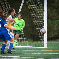 3rd year goalkeeper Savannah Williams (30) of the Regina Cougarsduring the Women's Soccer Homeopener on September 16 at U of R Field. Credit: Arthur Ward/Arthur Images