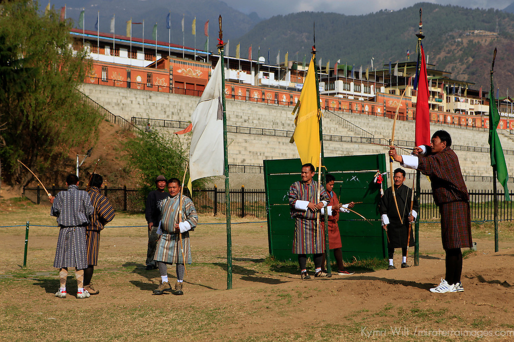 Asia, Bhutan, Thimpu. Archery is the national sport of Bhutan.