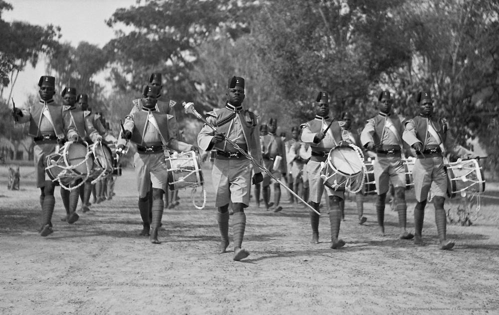 Band of the Nigerian Regiment, Kano, Nigeria, Africa, 1937