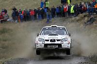 MOTORSPORT - WORLD RALLY CHAMPIONSHIP 2010 - WALES RALLY GB / RALLYE DE GRANDE-BRETAGNE - CARDIFF (GBR) - 11 TO 14/11/2010 - PHOTO : FRANCOIS BAUDIN / DPPI - <br /> MADS ØSTBERG (NOR) / JONAS ANDERSSON SWE - SUBARU IMPREZA WRC - ADAPTA MOTORSPORT - ACTION