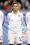 24 October 2014: Ali Krieger (USA). The United States Women's National Team played the Mexico Women's National Team at PPL Park in Chester, Pennsylvania in a 2014 CONCACAF Women's Championship semifinal game, which serves as a qualifying tournament for the 2015 FIFA Women's World Cup in Canada. The United States won the game 3-0. With the victory the U.S. advanced to the championship game and qualified for next year's Women's World Cup.