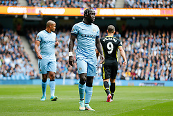 Bacary Sagna of Manchester City looks on - Photo mandatory by-line: Rogan Thomson/JMP - 07966 386802 - 18/10/2014 - SPORT - FOOTBALL - Manchester, England - Etihad Stadium - Manchester City v Tottenham Hotspur - Barclays Premier League.