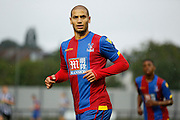 Adlene Guedioura sporting Palace's new hom kit during the Pre-Season Friendly match between Tooting & Mitcham and Crystal Palace at Imperial Fields, Tooting, United Kingdom on 24 July 2015. Photo by Michael Hulf.