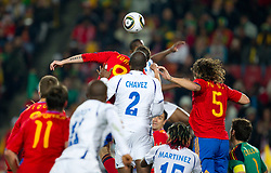 Players during the 2010 FIFA World Cup South Africa Group H Second Round match between Spain and Honduras on June 21, 2010 at Ellis Park Stadium, Johannesburg, South Africa.   (Photo by Vid Ponikvar / Sportida)