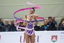 Rodriguez Carolina of Spain competes during 29th MTM - International tournament in rhythmic gymnastics Ljubljana, on March 12, 2016 in gymnastics center Ljubljana, Ljubljana, Slovenia.  Photo by Grega Valancic / Sportida