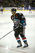 KELOWNA, CANADA - SEPTEMBER 24: Cal Foote #25 of the Kelowna Rockets skates on the ice at the Kelowna Rockets game on September 24, 2016 at Prospera Place in Kelowna, British Columbia, Canada.  (Photo By Cindy Rogers/Nyasa Photography,  *** Local Caption ***