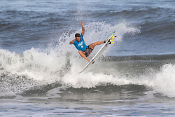 Jesse Mendes of Brazil advances in 2nd to round 4 from round 3 heat 2 of the Hawaiian Pro at Haleiwa, Oahu, Hawaii, USA