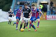 20th January 2018, Dens Park, Dundee, Scotland; Scottish Cup fourth round, Dundee versus Inverness Caledonian Thistle; Dundee's Mark O'Hara runs at Inverness Caledonian Thistle's Iain Vigurs