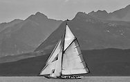 The Lady Anne, a 15 metre (95') Gaff Cutter built in 1912 under the peaks of Arran.<br />