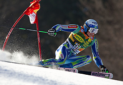 Matic Skube of Slovenia competes during 1st Run of Men's Giant Slalom of FIS Ski World Cup Alpine Kranjska Gora, on March 5, 2011 in Vitranc/Podkoren, Kranjska Gora, Slovenia.  (Photo By Vid Ponikvar / Sportida.com)