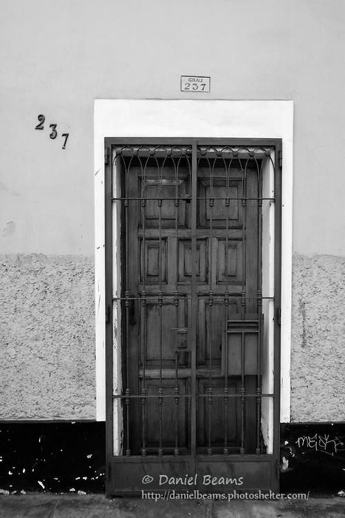 Old  door in Mira Flores, Lima, Peru