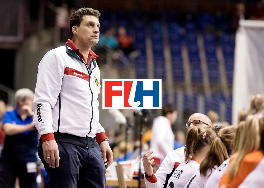 BERLIN - Indoor Hockey World Cup<br /> Women: Germany - Russia<br /> foto: BOUCHOUCHI Akim.<br /> WORLDSPORTPICS COPYRIGHT FRANK UIJLENBROEK
