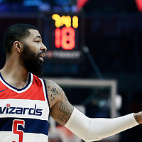09 December 2017: Washington Wizards forward Markieff Morris (5) is seen during the LA Clippers 113-112 victory over the Washington Wizards, at the Staples Center, Los Angeles, California, USA.