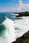 Waves in West Bali near Tanah Lot Temple