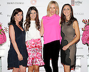 27/9/14***NO REPRO FEE*** Pictured is Rachel Cunningham, Ciara Hickey ,Caroline Hanratty and Michelle Curtin as Dublin's ladies turn out for a fashionable Cocktail Evening in aid of the Caroline Foundation Pic: Marc O'Sullivan  Friday 26th September: Last night saw a slice of high-end NY style hit Dublin, arriving at The Four Seasons.  Stylish ladies turned out in force to support the event and to mark the start of Breast Cancer Awareness month. The fundraiser, which was a sell-out was the brainchild of Paula McClean a breast cancer survivor and tireless fundraiser. Combining her love of fashion and a good party, the first Cocktail Club Event was born. With a great night of style, fun and raising a lot of money for cancer research, it is no wonder it was a sell- out.  The lucky ladies were treated to a special fashion Show by Brown Thomas who show cased their designers in a salon style. The show featured a selection of key looks mirroring trends from the international runways. The mood for AW14 is easy, elegant, casual and chic. New labels to love include Jenny Packham, Valentino, Osman, Brunello Cucinelli and Moschino. Curated by the affable Michelle Curtain, the clothes were a show-stopper. In keeping with the era of the collection, the evening had a distinctive New York retro theme. Signature 'Original' cocktails from The Four Seasons, featuring Tanqueray London Dry Gin and Ketel-One with the trademark Copper Kettle serve, were the order of the day with eclectic tunes from club DJ Dom to keep the party going. All the lucky ladies went home with a luxury La Bougie Candle. The inaugural Cocktail Club in aid of the Caroline Foundation is the brainchild of Paula McClean a breast cancer survivor and tireless fundraiser. Commenting on the evening, 'Breast Cancer and the Caroline Foundation are very close to my heart and combining this with my love of fashion and a good party, we came up with the first Cocktail Club. We are looking forward to a great night of styl