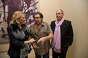 MIRIAM ERBEIA, JULIAN SCHNABEL AND LUIGI KOELLIKER. private view for Julian Schnabel: Christ's Last Day Atto II - <br />