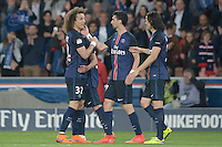 joie PSG / David Luiz / Javier Pastore / Edinson Cavani - 23.05.2015 - PSG / Reims - 38eme journee de Ligue 1<br />