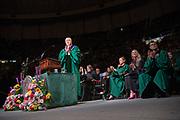 President Nellis speaks at spring undergraduate commencement. Photo by Ben Siegel
