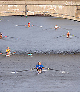 Boston, USA, Senior Master Men's Singles. Head of the Charles, Race Charles River,  Cambridge,  Massachusetts. Sunday  20/10/2007  [Mandatory Credit Peter Spurrier/Intersport Images]..... , Rowing Course; Charles River. Boston. USA