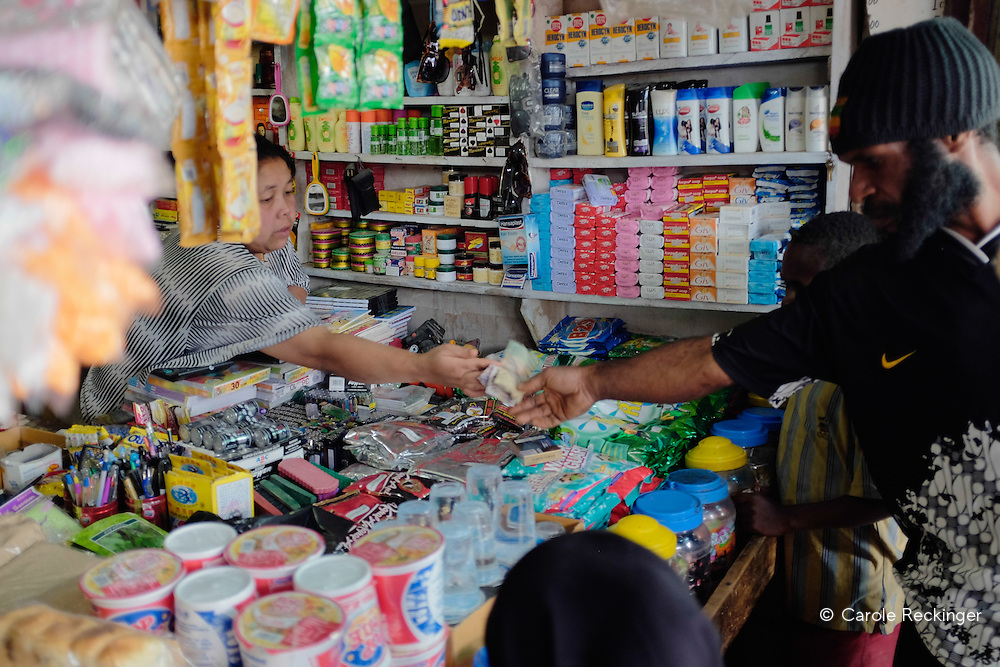 As nearly all commercial activity is in the hands of Indonesian newcomers, money transactions are one way.