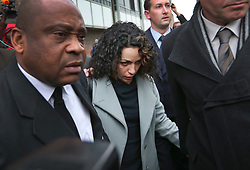 © Licensed to London News Pictures. 06/01/2016. Croydon, UK. Former Chelsea team doctor EVA CARNEIRO (C) leaves Croydon Employment Tribunal. Carneiro is claiming constructive dismissal against Chelsea football club. Photo credit: Peter Macdiarmid/LNP