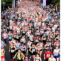 Resolution Asset Management Women's 10K.Bellahouston Park, Glasgow..The runners start the race.