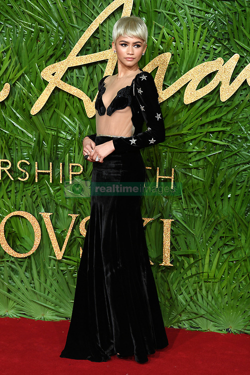 Zendaya attending the Fashion Awards 2017, in partnership with Swarovski, held at the Royal Albert Hall, London. Picture Credit Should Read: Doug Peters/ EMPICS Entertainment