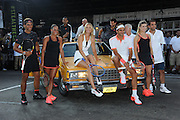 Aug. 24, 2015 - New York, NY, USA - <br /> <br /> Nike NYC Street Tennis Event <br /> <br /> Tennis Players Rafael Nadal, Madison Keys, Maria Sharapova, Roger Federer,Genie Bouchard and Pete Sampras attending Nike's 'NYC Street Tennis' Event <br /> ©Exclusivepix Media