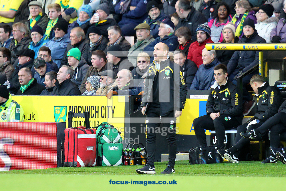 Norwich Manager Alex Neil during the Sky Bet Championship match at Carrow Road, Norwich<br /> Picture by Paul Chesterton/Focus Images Ltd +44 7904 640267<br /> 02/01/2017