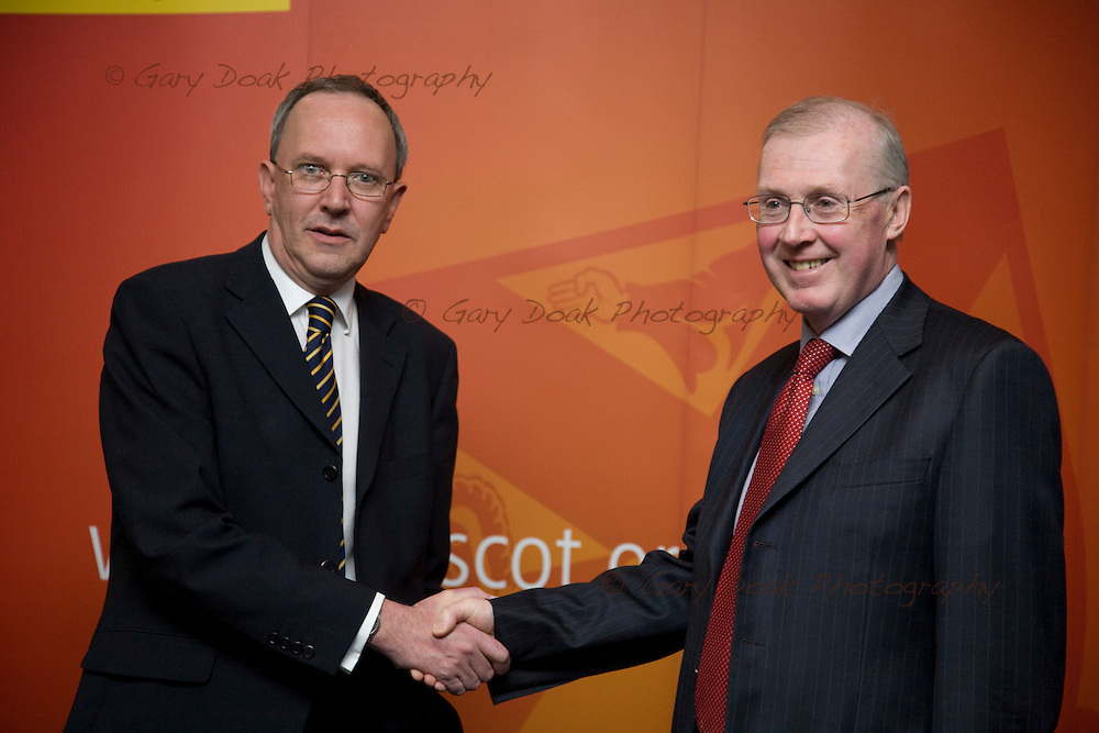 Law Society of Scotland. Special General Meeting. President Ian Smart (left) and Michael Scanlan, president of the Scottish Law Agents<br /> Association