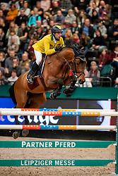 Mansur Guerios Yuri, BRA, Ibelle van de Grote Haart<br /> Leipzig - Partner Pferd 2019<br /> © Hippo Foto - Stefan Lafrentz