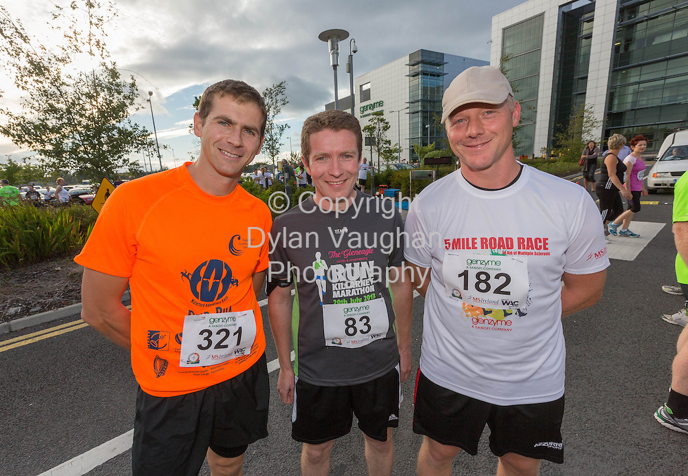 No Repro Fee<br /> <br /> <br /> 301/8/2013<br /> Eugene Lambert, Luke O'Brien and Adrian Murphy    pictured at the third annual Genzyme for MS Five Mile Road Race in Waterford on Friday (Aug 30). All proceeds from the race are going to the Waterford branch of the Multiple Sclerosis Society of Ireland. <br /> <br /> Picture Dylan Vaughan.