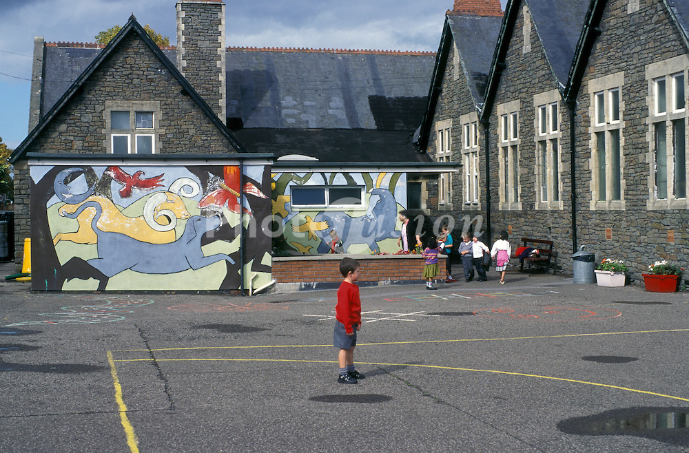 Primary school playground Cardiff Wales