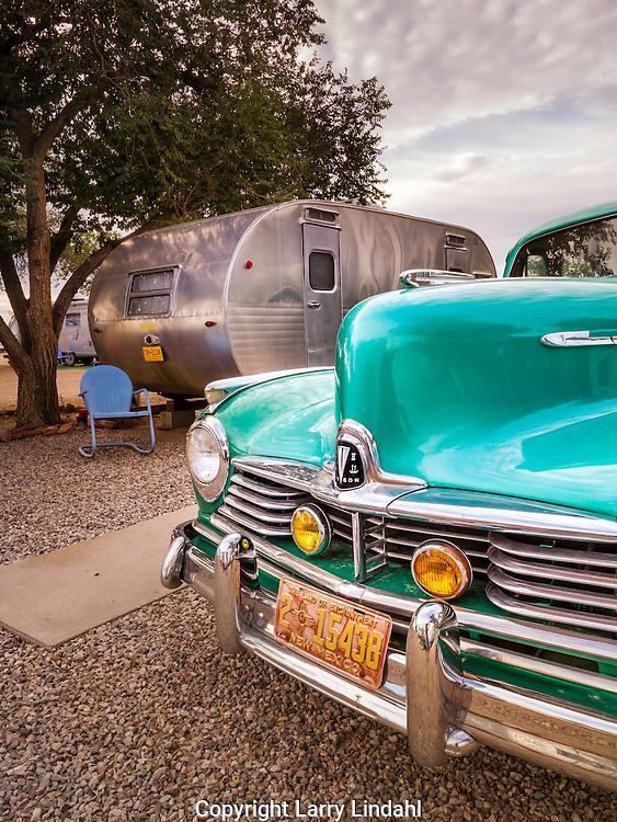 Enchanted Trails RV Park & Trading Post, Hudson car, Albuquerque, New Mexico, Route 66