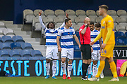 GOAL 1-0 Queens Park Rangers midfielder Eberechi Eze (10) scores during the EFL Sky Bet Championship match between Queens Park Rangers and Preston North End at the Kiyan Prince Foundation Stadium, London, England on 7 December 2019.