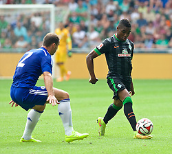 03.08.2014, Weserstadion, Bremen, GER, Testspiel, SV Werder Bremen vs FC Chelsea, im Bild Cedrick Makiadi (SV Werder Bremen #6) am Ball // during a friedly match between SV Werder Bremen and Chelsea FC at the Weserstadion in Bremen, Germany on 2014/08/03. EXPA Pictures © 2014, PhotoCredit: EXPA/ Andreas Gumz<br /> <br /> *****ATTENTION - OUT of GER*****