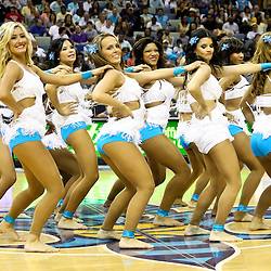 April 1, 2011; New Orleans, LA, USA; New Orleans Hornets Honeybees dancers perform during the second half of a game against the Memphis Grizzlies at the New Orleans Arena. The Grizzlies defeated the Hornets 93-81.   Mandatory Credit: Derick E. Hingle