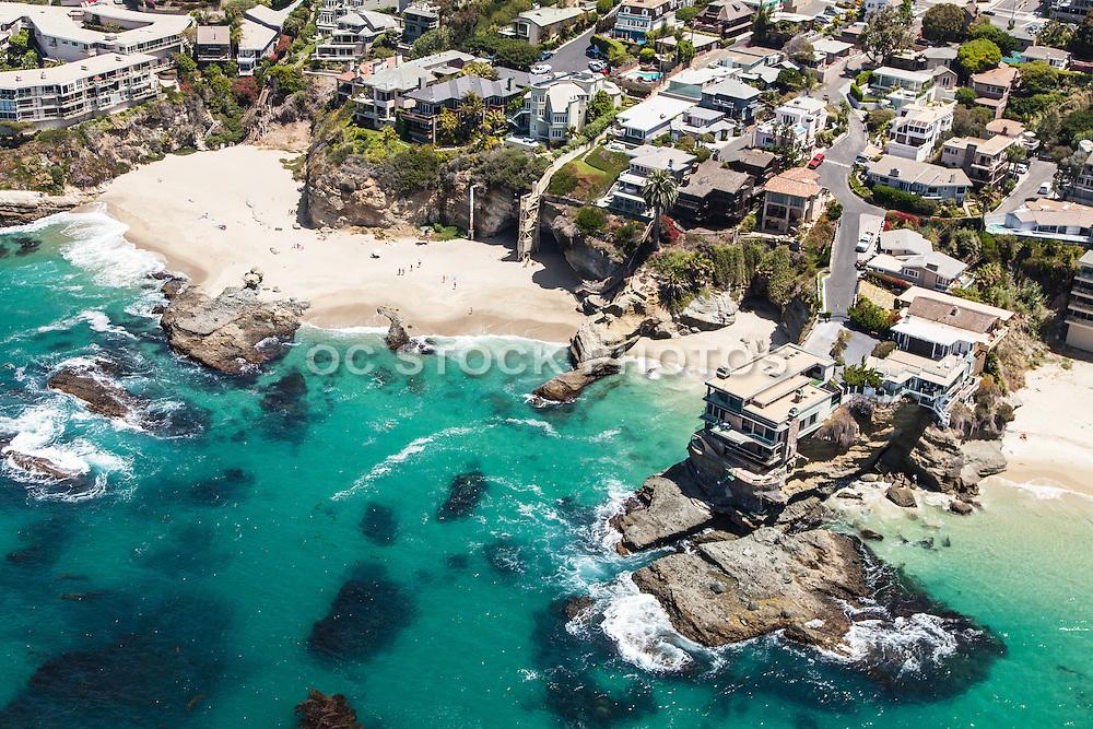 Aerial over Table Rock Beach in Laguna Beach California