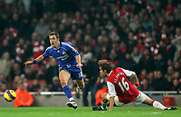 Photo: Tom Dulat/Sportsbeat Images.<br /> <br /> Arsenal v Chelsea. The FA Barclays Premiership. 16/12/2007.<br /> <br /> Mathieu Flamini of Arsenal and Joe Cole of Chelsea with the ball.
